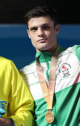 Northern Ireland's James McGivern with the bronze medal in the Men's Lightweight Final at Oxenford Studios during day ten of the 2018 Commonwealth Games in the Gold Coast, Australia.