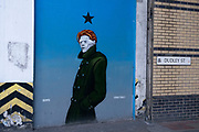 David Bowie street art mural on 24th March 2021 in Birmingham, United Kingdom. Bowie was a figure in popular music for over five decades, becoming acclaimed by critics and other musicians for his innovative work.