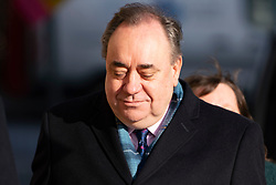 Edinburgh, Scotland, UK. 16 March, 2020.  Alex Salmond arrives at High Court in Edinburgh on the sixth day of his trial.  Iain Masterton/Alamy Live News