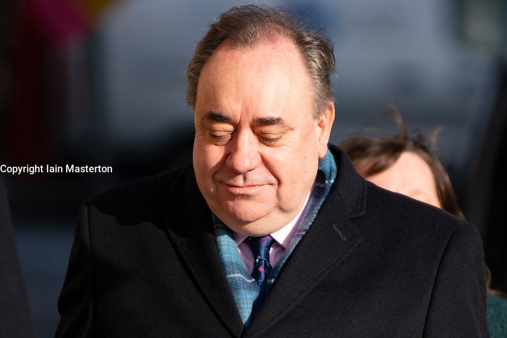 Edinburgh, Scotland, UK. 16 March, 2020.  Alex Salmond arrives at High Court in Edinburgh on the sixth day of his trial.  Iain Masterton/Alamy Live News