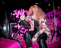 Becca Dudley at the Launch of the  Junkyard Golf Club Worship Street   London 5th dec 2019 photo by Brian Jordan