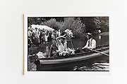 CAPT AND MRS. RUPERT WIELOCH,  CAPT. HAMISH FULTON, LEAVING WEDDING PARTY, Nevill/ Wieloch wedding,  used sept. 86.