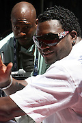 David Ortiz at the Major League Baseball All-Stars and 49 Hall of Famers ride up Sixth Avenue in All Star-Game Red Carpet Parade Presented by Chevy on July 15, 2008