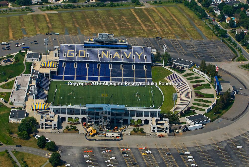 Aerial view of  Jack Stephens Field, Annapolis Navy Football Stadium