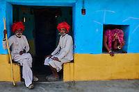 Inde, Rajasthan, village de Meda dans les environs de Jodhpur, population Rabari // India, Rajasthan, Meda village around Jodhpur, Rabari ethnic group