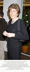 LADY JANE SPENCER-CHURCHILL at a party in London on 6th March 2003.PHR 51