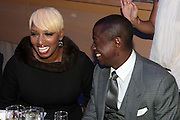 November 3, 2012- New York, NY: (L-R) Reality TV Personality/Author/Actress NeNe Leakes and Visual Artist Sanforrd Biggers at the EBONY Power 100 Gala Presented by Nationwide held at Jazz at Lincoln Center on November 3, 2012 in New York City. The EBONY Power 100 Gala Presented by Nationwide salutes the country's most influential African Americans.(Terrence Jennings) .