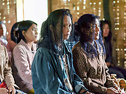 Sunday morning service at the Mary of Christian church in the Kayan village of Ye Phyu, Kayah State, Myanmar on 13th November 2016