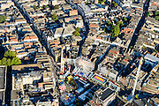 Nederland, Noord-Brabant, Den Bosch, 23-08-2016; binnenstad Den Bosch met  Hinthamerstraat en kermis op de Markt.<br /> Town centre Den Bosch with fiar on Market square.<br /> <br /> luchtfoto (toeslag op standard tarieven);<br /> aerial photo (additional fee required);<br /> copyright foto/photo Siebe Swart