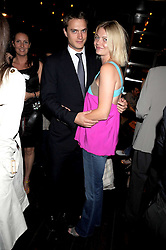 """The EARL & COUNTESS OF MORNINGTON at a party and exclusive private view of 'Naked Portrait With Reflection"""" by Lucian Freud hosted by Christie's held at 17 Berkeley Street, London on 17th June 2008.<br /><br />NON EXCLUSIVE - WORLD RIGHTS"""
