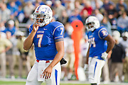 Dec 1, 2012; Tulsa, Ok, USA; Tulsa Hurricanes quarterback Cody Green (7) looks to the sidelines during a game against the University of Central Florida Knights at Skelly Field at H.A. Chapman Stadium. Tulsa defeated UCF 33-27 in overtime to win the CUSA Championship. Mandatory Credit: Beth Hall-USA TODAY Sports
