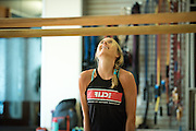 Strength training and stretching at the Clif Bar Headquarters