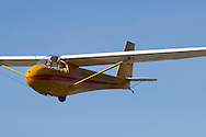 Middletown, New York - A glider takes off from Randall Airport on April 12, 2014.