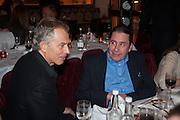 TONY BLAIR; JOOLS HOLLAND, Chinese New Year dinner given by Sir David Tang. China Tang. Park Lane. London. 4 February 2013.