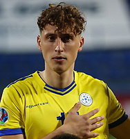 PODGORICA, MONTENEGRO - JUNE 07: Mergim Vojvoda of Kosovo before the 2020 UEFA European Championships group A qualifying match between Montenegro and Kosovo at Podgorica City Stadium on June 7, 2019 in Podgorica, Montenegro MB Media