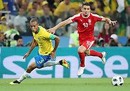 Miranda of Brazil and Dusan Tadic of Serbia during the 2018 FIFA World Cup Russia, Group E football match between Erbia and Brazil on June 27, 2018 at Spartak Stadium in Moscow, Russia - Photo Tarso Sarraf / FramePhoto / ProSportsImages / DPPI