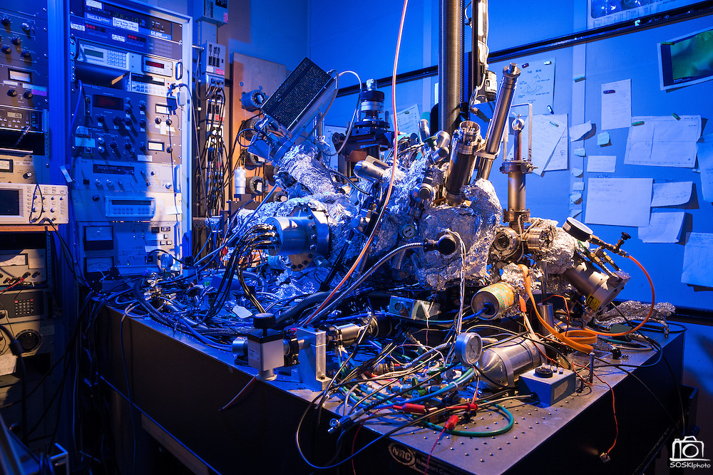 Single Atom Microscope feature photographed at IBM Research Almaden campus in San Jose, California, on February 28, 2017. (Stan Olszewski/SOSKIphoto)