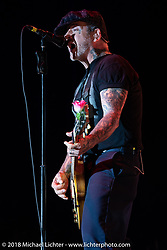 Social Distortion was the final act at the Surf City Blitz Punk Rock Festival. Huntington Beach, CA, USA. Sunday October 28, 2018. Photography ©2018 Michael Lichter.
