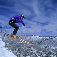 SKIING, Aspen, CO, Chris Hutcheson (MR) skis Super 8, Aspen Mountain.
