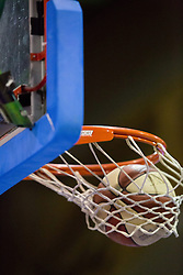 17.05.2015, Walfersamhalle, Kapfenberg, AUT, ABL, ece Bulls Kapfenberg vs magnofit Guessing Knights, 3. Semifinale, im Bild ein Basketball der im Korb landet // during the Austrian Basketball League, 3th semifinal, between ece Bulls Kapfenberg and magnofit Guessing Knights at the Sportscenter Walfersam, Kapfenberg, Austria o00000n 2015/05/17, EXPA Pictures © 2015, PhotoCredit: EXPA/ Dominik Angerer