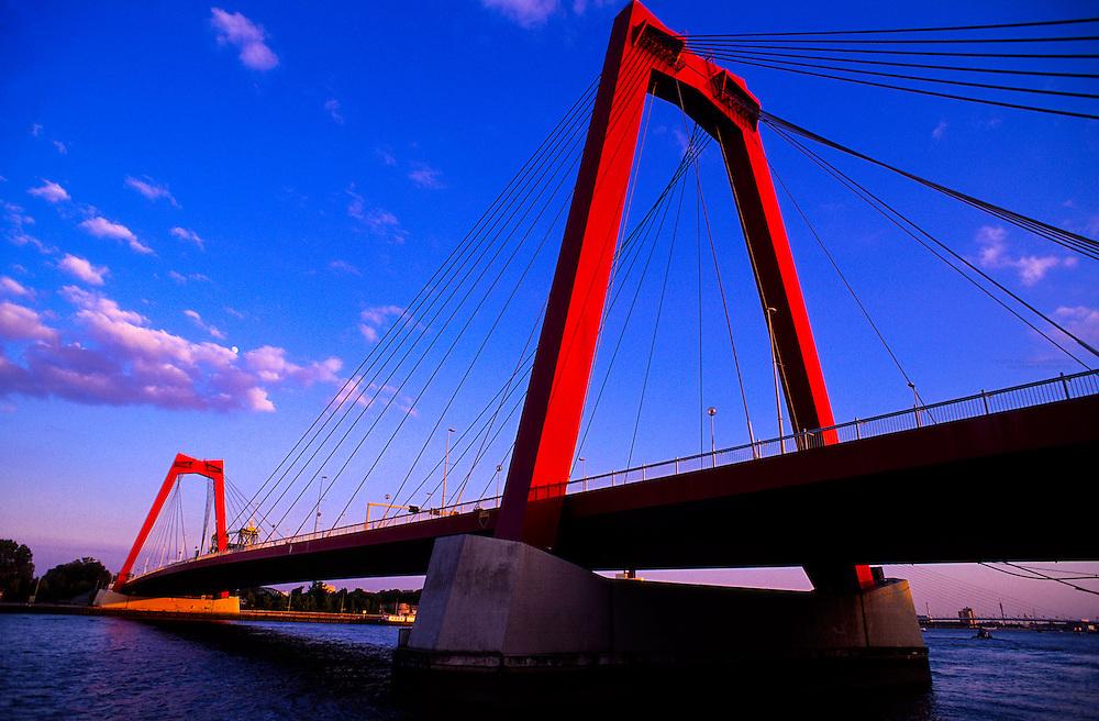 Willemsbrug Bridge, Rotterdam, the Netherlands
