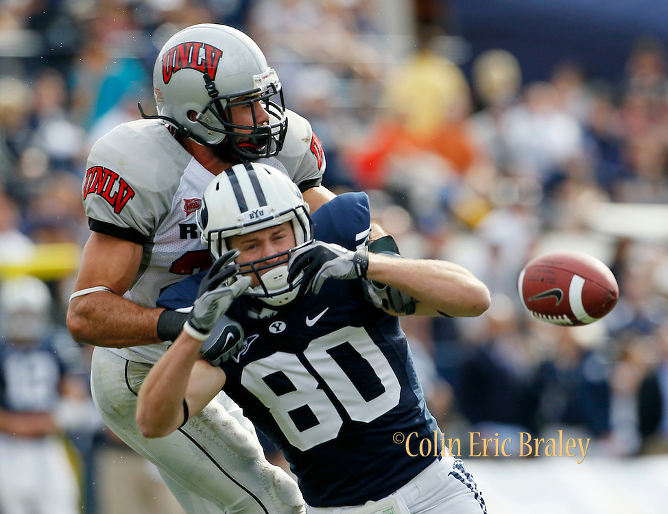 during the first half of an NCAA college football game at LaVell Edwards Stadium, Saturday, Nov. 6, 2010, in Provo, Utah.  (AP Photo/Colin E. Braley)