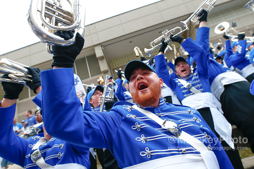 LEXINGTON, KY - OCTOBER 07: Members of the Kentucky Wildcats marching band are seen before the game against the Missouri Tigers at Commonwealth Stadium on October 7, 2017 in Lexington, Kentucky. (Photo by Michael Hickey/Getty Images)