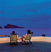 Holiday makers, Hotel Raya, Panarea, Aeolian Islands, Italy