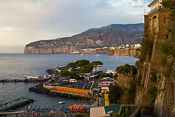 Sorrento, Italy, September 16 2017. The late afternoon sun casts a warm, golden glow over Marina Piccola in Sorrento, Italy. © Paul Davey