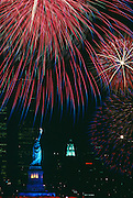 New York City Skyline on the 4th of July. 1989
