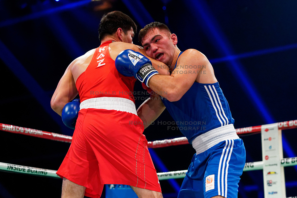 17-11-2019 NED: World Port Boxing Netherlands - Kazakhstan, Rotterdam<br /> 3rd World Port Boxing in Excelsior Stadion Rotterdam / Artjom Kasparian (NED) against Nurbek Oralbay (KAZ), 81 kg class