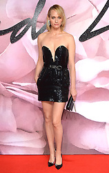 Amber Valletta attending The Fashion Awards 2016 at The Royal Albert Hall in London. <br /> <br /> Picture Credit Should Read: Doug Peters/ EMPICS Entertainment