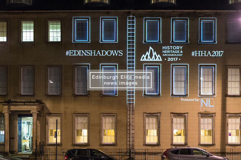 To celebrate the 250th anniversary of Edinburgh's New Town a lumiere experience will be on display each evening. <br /> <br /> Beginning at the centre of St Andrew Square, projections onto the Melville Monument will tell the story of the New Town's origins and take you on a journey through detailed plans of the city's streets, highlighting key buildings in the Edinburgh's Georgian Shadows trail.