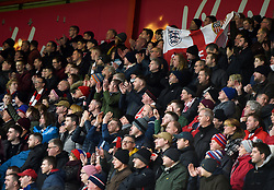 Fans in the stands during the Premier League match at the Vitality Stadium, Bournemouth.