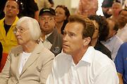 7 May 2009 - Santa Barbara, CA -  California Governor Arnold Schwarzenegger.   Jesusita Wildfire Press Briefing at the Earl Warren Showgrounds in Santa Barbara, California. Photo Credit: Rod Rolle/Sipa Press,  21 August 2009-Santa Barbara, CA: