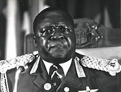 Dec. 12, 1968 - Idi Amin Uganda: Addressing the DAU Summit in Mauritius as the outgoing Chairman. Taken on the day of the Israeli raid. President Amin of Uganda. Credit: Camerapix (Credit Image: © Keystone Pictures USA/ZUMAPRESS.com)