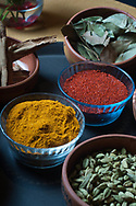 Indian spices at restaurant Kormasutra