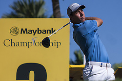 February 3, 2018 - Shah Alam, Kuala Lumpur, Malaysia - NINO BERTASIO is seen taking a shot from hole no 3 on day 3 at the Maybank Championship 2018. The Maybank Championship 2018 golf event is being hosted on 1st to 4th February at Saujana Golf & Country Club. (Credit Image: © Faris Hadziq/SOPA via ZUMA Wire)