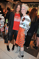 Left to right, LULU KENNEDY and LOUISE GRAY at a party to celebrate the launch of Louise Gray's make-up and clothing collections for Topshop held at Topshop Edited, 286 Regent Street, London on 22nd August 2012.
