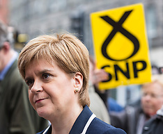 Nicola Sturgeon campaigning | Edinburgh | 2 May 2017