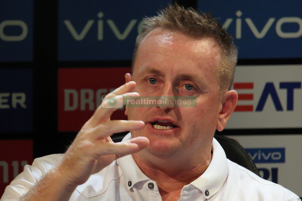 March 22, 2019 - Mumbai, India - Former New Zealand cricketer Scott Styris reacts while addressesing the media in a press conference in Mumbai, India on 22 March 2019. As the official broadcaster, Star Sports has unveiled 'Select Dugout' for the upcoming VIVO IPL 2019  (Credit Image: © Himanshu Bhatt/NurPhoto via ZUMA Press)