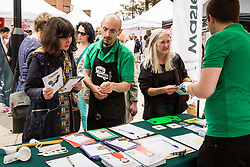 NLWA North London Waste Authority  information stall, Midsummer Muswell Community Market, Muswell Hill, London 2015