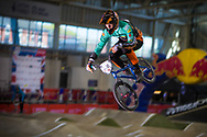 #318 (KILLIAN PATRICOLO Marc) ESP at the 2014 UCI BMX Supercross World Cup in Manchester.