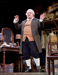 Mr Foote's Other Leg <br /> by Ian Kelly <br /> at Theatre Royal Haymarket, London, Great Britain <br /> press photocall<br /> 30th October 2015 <br /> <br /> <br /> Simon Russell Beale as Samuel Foote <br /> <br /> Photograph by Elliott Franks <br /> Image licensed to Elliott Franks Photography Services