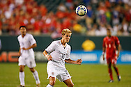 July 18 2009: Stuart Holden of USA heads the ball during the game between USA and Panama. The United States defeated Panama 2-1 in added extra time in a CONCACAF Gold Cup quarter-final match at Lincoln Financial Field in Philadelphia, Pennsylvania.