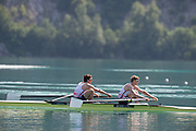Aiguebelette, FRANCE. GBR LM2- Bow Sam SCRIMGEOUR and Jonathan CLEGG. Sunday, Finals at the  .  10:33:43  Sunday  22/06/2014. [Mandatory Credit; Peter Spurrier/Intersport-images]