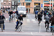 Fietsers in Amsterdam.<br /> <br /> Cyclists in Amsterdam.