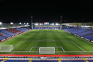 a General view of  inside an empty Selhurst Park hours before k/o. . Emirates FA Cup 3rd round replay match, Crystal Palace v Bolton Wanderers at Selhurst Park in London on Tuesday 17th January 2017.<br /> pic by John Patrick Fletcher, Andrew Orchard sports photography.