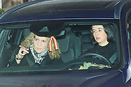 Princess Elena de Borbon, Victoria Federica de Marichalar, Felipe Juan Froilan de Marichalar attends Princess PIlar Borbon funeral chapel  installed in the Gomez-Acebo house on January 8, 2020 in Madrid, Spain