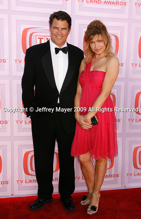 UNIVERSAL CITY, CA. - April 19: Ted McGinley and wife Gigi Rice arrive at the 2009 TV Land Awards at the Gibson Amphitheatre on April 19, 2009 in Universal City, California.